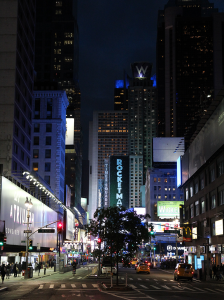 Times Square de nuit NYC